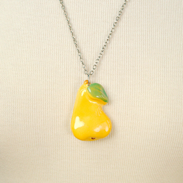 Hullabaloo Pear Fruitopia Fruity Necklace for sale at Cats Like Us - 1