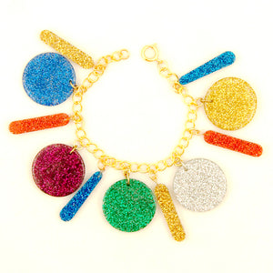 Pop Glitter Charm Bracelet by Hullabaloo : Cats Like Us