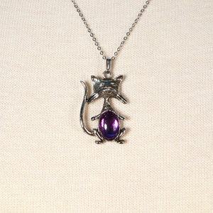 Purple Cool Cat Necklace - Cats Like Us