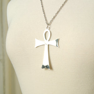 Silver Life Ankh Necklace
