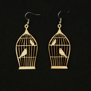 Sm Bye Bye Birdie Cage Earrings