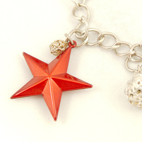 Hullabaloo Stars and Bells Charm Bracelet for sale at Cats Like Us - 2