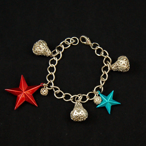 Hullabaloo Stars and Bells Charm Bracelet for sale at Cats Like Us - 1