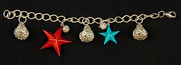 Hullabaloo Stars and Bells Charm Bracelet for sale at Cats Like Us - 5