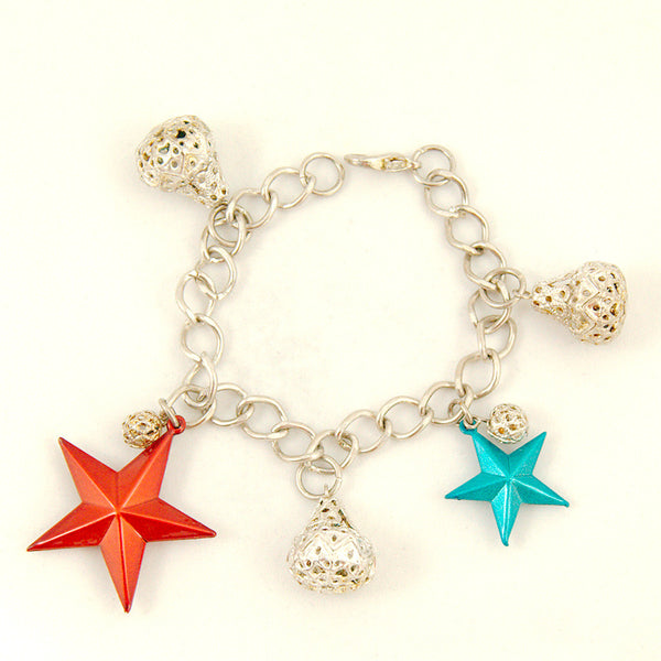 Hullabaloo Stars and Bells Charm Bracelet for sale at Cats Like Us - 3