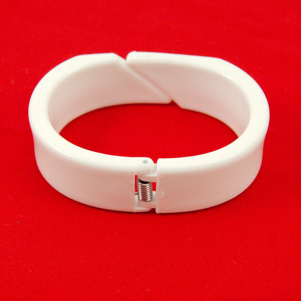 Hullabaloo White Blackjack Hinge Bangle for sale at Cats Like Us - 3