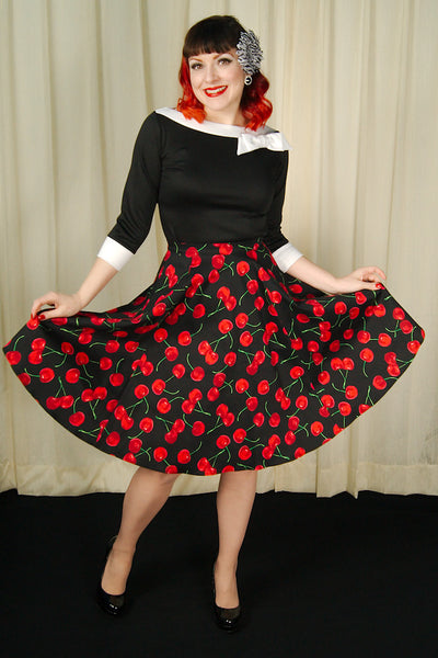 Ixia Black Cherries Circle Skirt for sale at Cats Like Us - 4