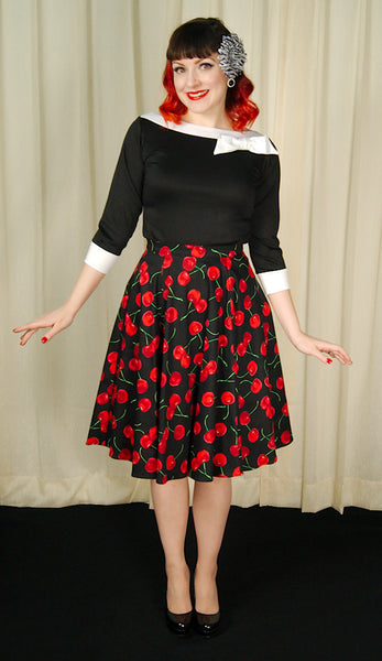 Ixia Black Cherries Circle Skirt for sale at Cats Like Us - 5