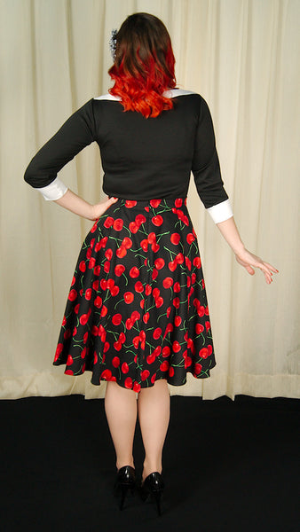 Ixia Black Cherries Circle Skirt for sale at Cats Like Us - 7