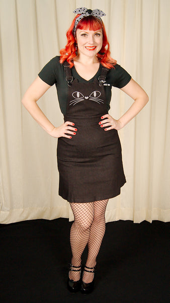 Black Cat Overall Dress by Jawbreaker - Cats Like Us