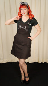Black Cat Overall Dress by Jawbreaker : Cats Like Us