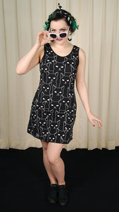 Black Cat Tank Dress