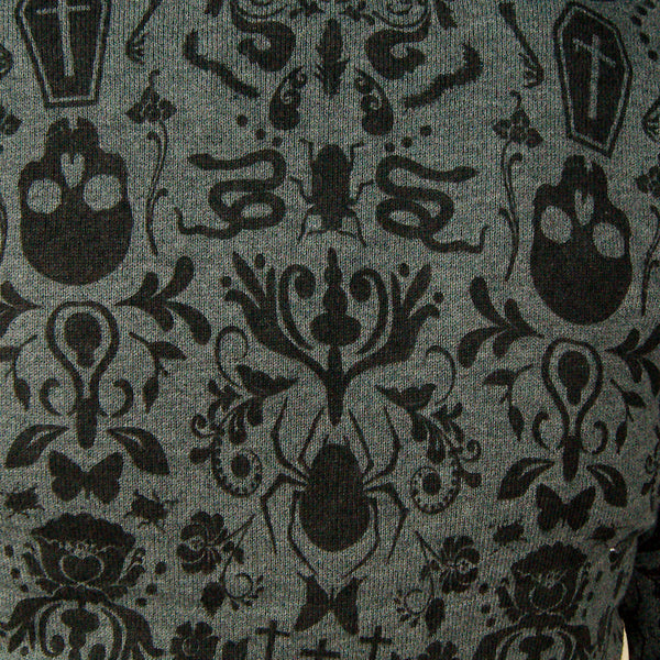 Jawbreaker Gray Creepy Crawly Cardigan for sale at Cats Like Us - 3