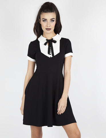 Keyhole Bow Wednesday Dress