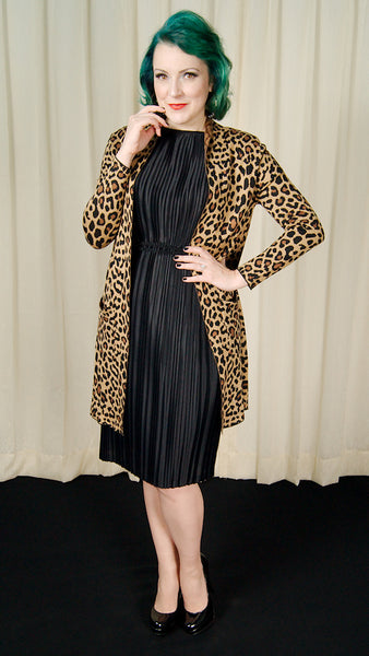 Long Knit Leopard Cardigan