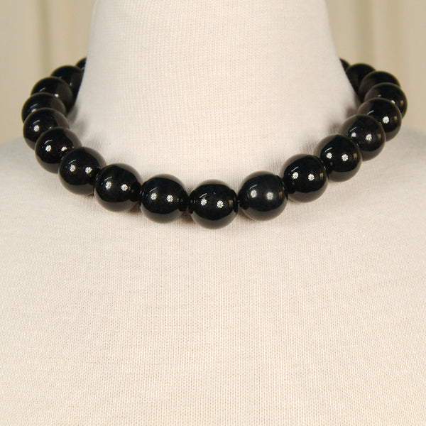 JS World Trading Black Bead Necklace for sale at Cats Like Us - 3