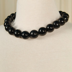 Black Bead Necklace by JS World Trading - Cats Like Us