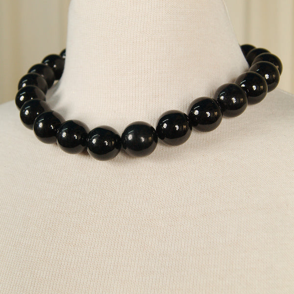JS World Trading Black Bead Necklace for sale at Cats Like Us - 2