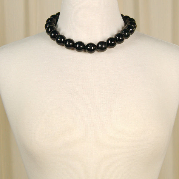 JS World Trading Black Bead Necklace for sale at Cats Like Us - 1