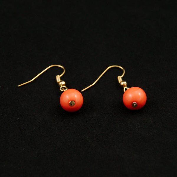 Coral Dangle Bead Earrings by JS World Trading : Cats Like Us