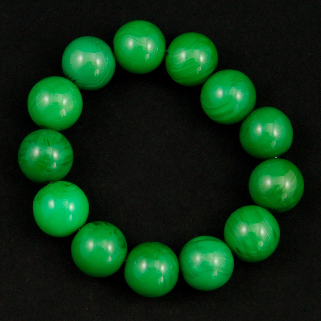 Jade Green Bead Bracelet - Cats Like Us