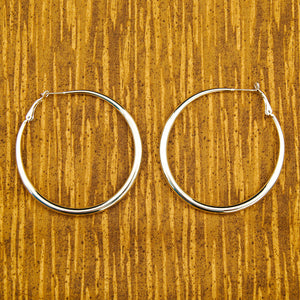 Oval Silver Hoop Earrings by JS World Trading : Cats Like Us