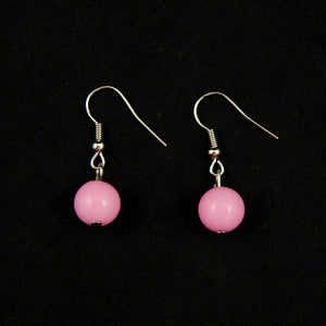 Pink Dangle Bead Earrings by JS World Trading : Cats Like Us