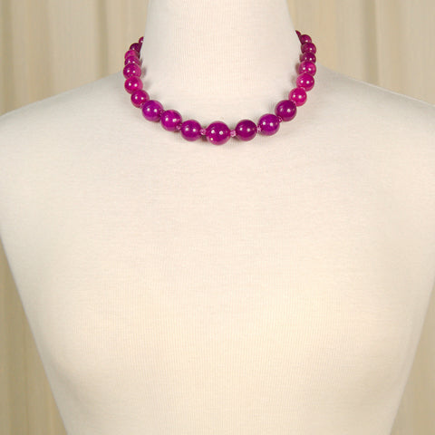 Purple Bead Necklace - Cats Like Us