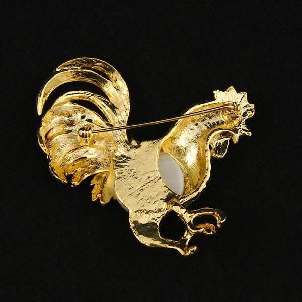 JS World Trading Rockin Rooster Brooch Pin for sale at Cats Like Us - 3