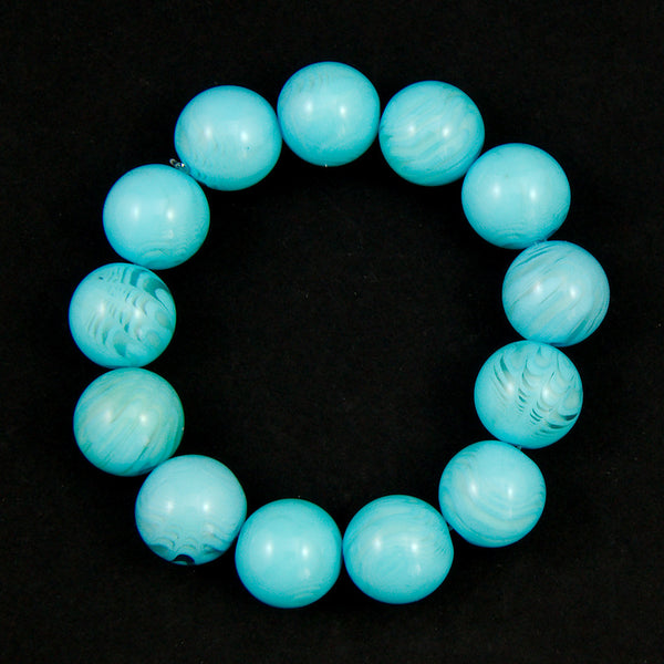 Sky Blue Bead Bracelet by JS World Trading : Cats Like Us