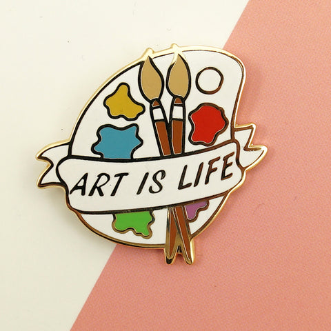 Art is Life Palette Pin - Cats Like Us