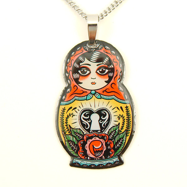 Babushka Love Doll Necklace - Cats Like Us