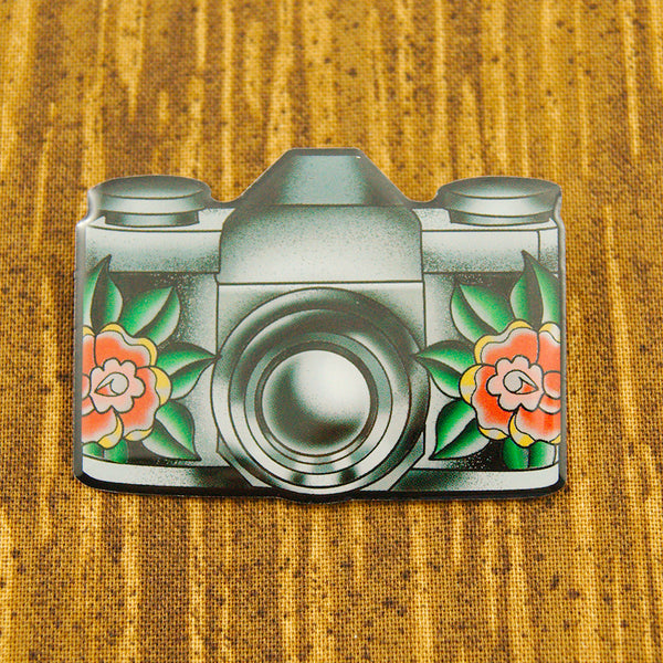Camera Brooch - Cats Like Us