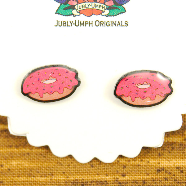 Donut Stud Earrings by Jubly-Umph : Cats Like Us