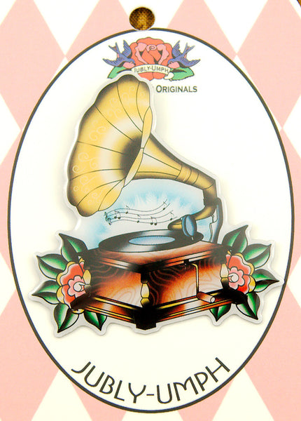 Gramophone Music Brooch by Jubly-Umph : Cats Like Us