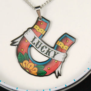 Lucky Horseshoe Necklace - Cats Like Us