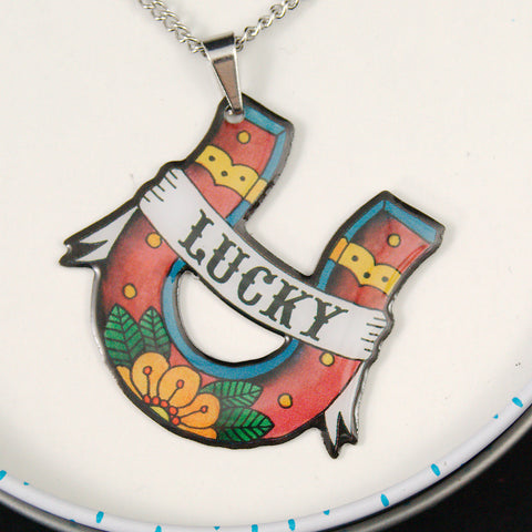 Lucky Horseshoe Necklace by Jubly-Umph : Cats Like Us