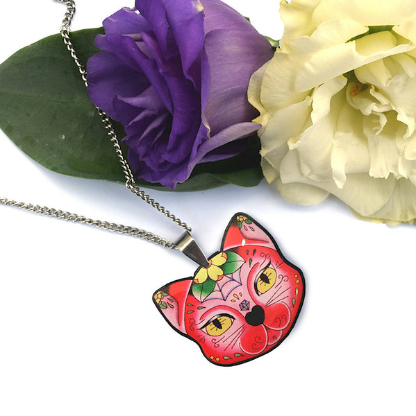 Muerte Kitty Pendant Necklace by Jubly-Umph : Cats Like Us
