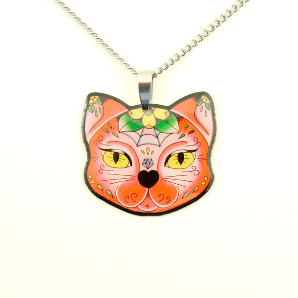 Muerte Kitty Pendant Necklace - Cats Like Us
