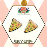Jubly-Umph Pizza Stud Earrings for sale at Cats Like Us - 2