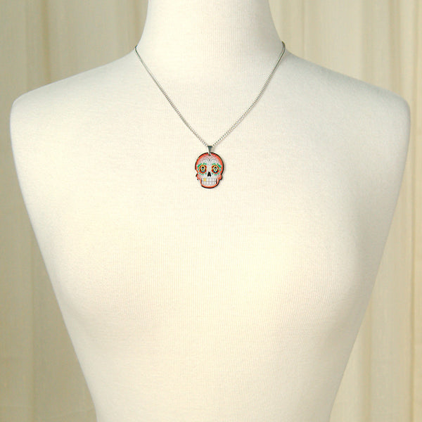 Jubly-Umph Red Skull Mini Pendant Necklace for sale at Cats Like Us - 3