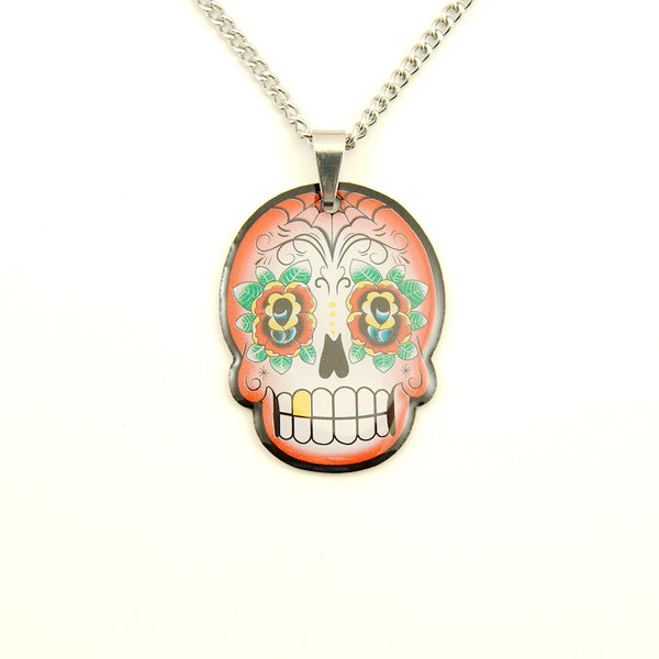 Red Skull Mini Pendant Necklace