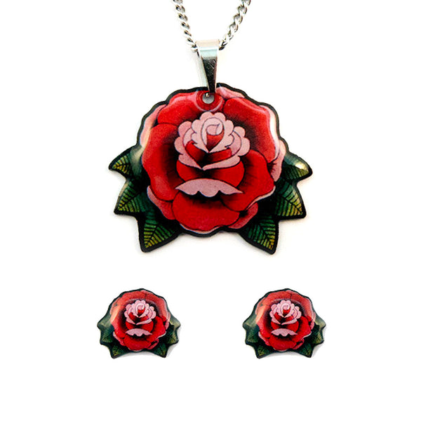 Jubly-Umph Roses Jewelry Gift Set for sale at Cats Like Us - 1