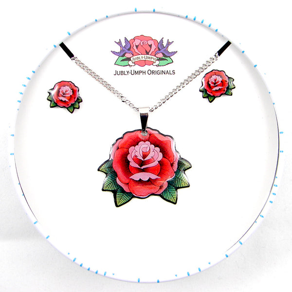 Jubly-Umph Roses Jewelry Gift Set for sale at Cats Like Us - 2