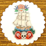 Jubly-Umph Sailing Ship Brooch Pin for sale at Cats Like Us - 3
