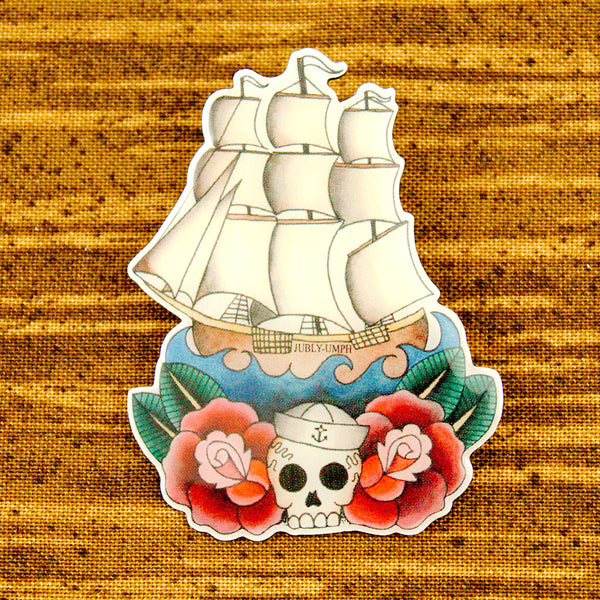 Sailing Ship Brooch Pin - Cats Like Us