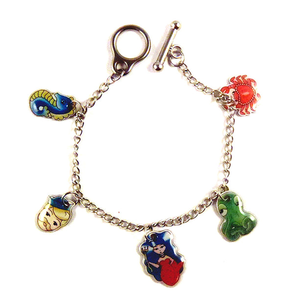 Jubly-Umph Sea Life Charm Bracelet for sale at Cats Like Us - 1