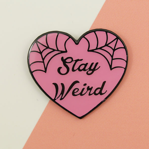 Stay Weird Pin - Cats Like Us