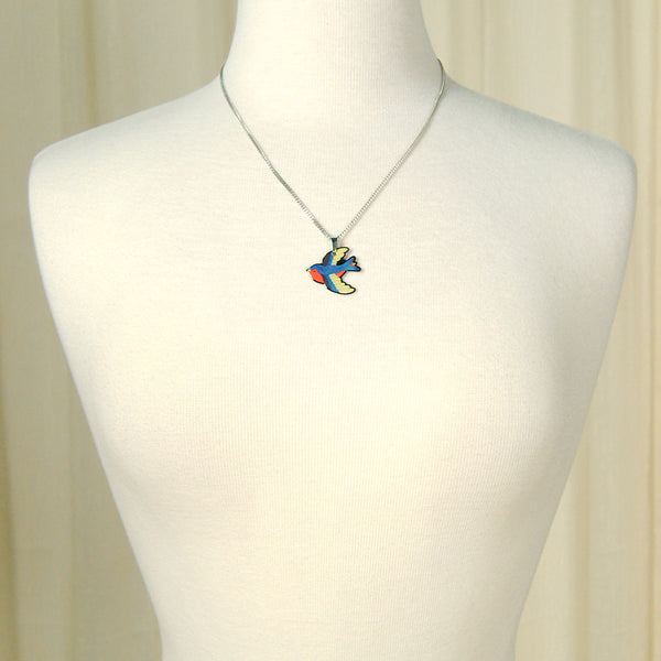 Jubly-Umph Swooping Swallow Necklace for sale at Cats Like Us - 3