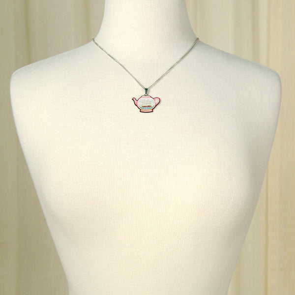Jubly-Umph Teapot Mini Pendant Necklace for sale at Cats Like Us - 3
